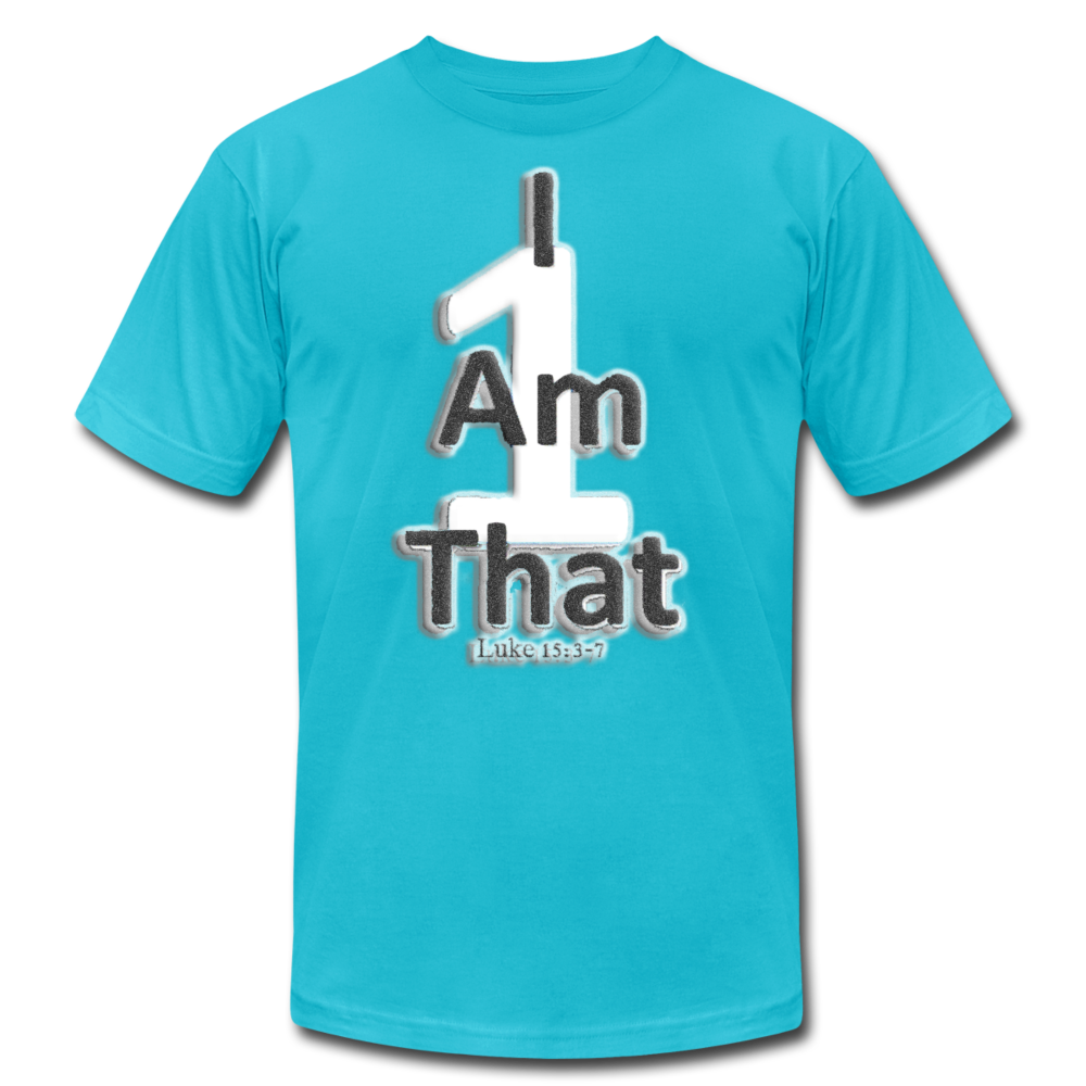 That One Unisex Jersey T-Shirt by Bella + Canvas - turquoise