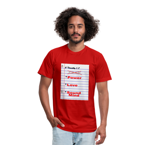 No FEAR Unisex Jersey T-Shirt by Bella + Canvas - red