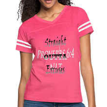 Load image into Gallery viewer, Straight Outta Excuses Vintage Sport T-Shirt - vintage pink/white