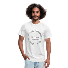 Load image into Gallery viewer, W.O.R.D. Unisex Jersey T-Shirt by Bella + Canvas - white