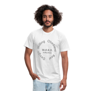 W.O.R.D. Unisex Jersey T-Shirt by Bella + Canvas - white