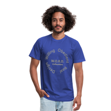 Load image into Gallery viewer, W.O.R.D. Unisex Jersey T-Shirt by Bella + Canvas - royal blue
