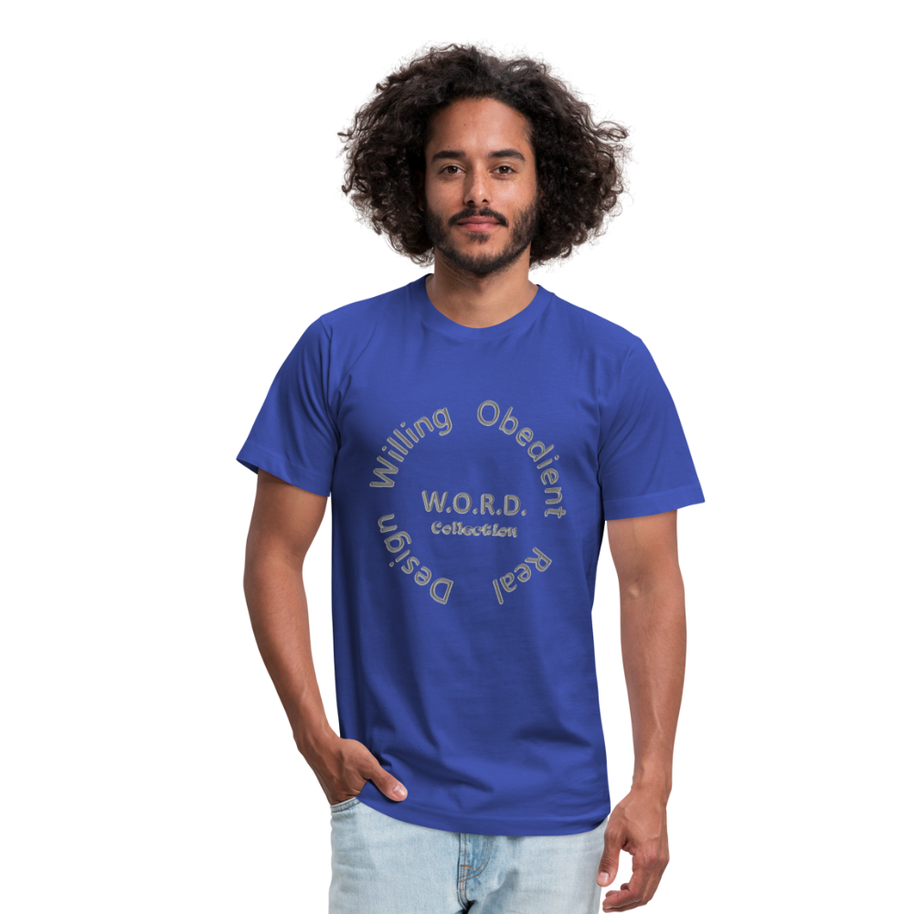 W.O.R.D. Unisex Jersey T-Shirt by Bella + Canvas - royal blue