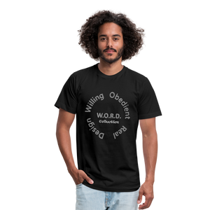 W.O.R.D. Unisex Jersey T-Shirt by Bella + Canvas - black