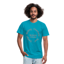 Load image into Gallery viewer, W.O.R.D. Unisex Jersey T-Shirt by Bella + Canvas - turquoise