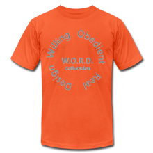 Load image into Gallery viewer, W.O.R.D. Unisex Jersey T-Shirt by Bella + Canvas - orange