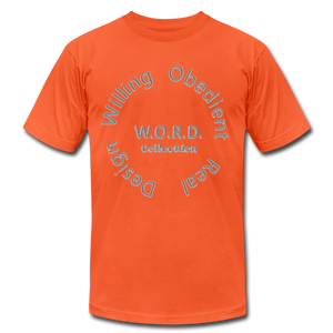 W.O.R.D. Unisex Jersey T-Shirt by Bella + Canvas - orange