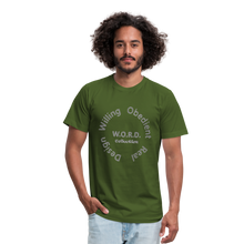 Load image into Gallery viewer, W.O.R.D. Unisex Jersey T-Shirt by Bella + Canvas - olive