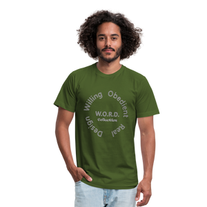 W.O.R.D. Unisex Jersey T-Shirt by Bella + Canvas - olive