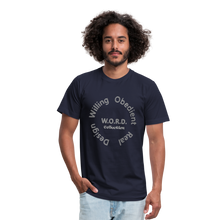 Load image into Gallery viewer, W.O.R.D. Unisex Jersey T-Shirt by Bella + Canvas - navy