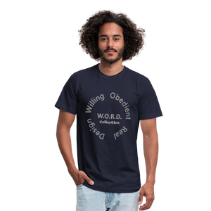 W.O.R.D. Unisex Jersey T-Shirt by Bella + Canvas - navy