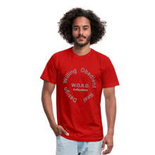Load image into Gallery viewer, W.O.R.D. Unisex Jersey T-Shirt by Bella + Canvas - red