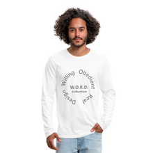 Load image into Gallery viewer, W.O.R.D. Men's Premium Long Sleeve T-Shirt - white