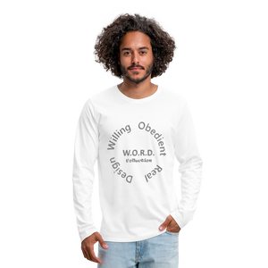 W.O.R.D. Men's Premium Long Sleeve T-Shirt - white