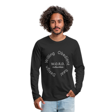 Load image into Gallery viewer, W.O.R.D. Men's Premium Long Sleeve T-Shirt - black