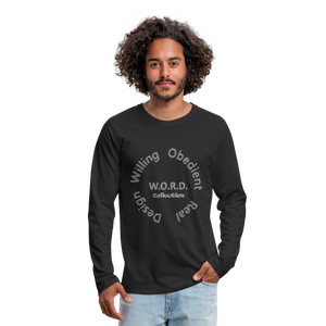 W.O.R.D. Men's Premium Long Sleeve T-Shirt - black