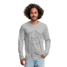 Load image into Gallery viewer, W.O.R.D. Men's Premium Long Sleeve T-Shirt - heather gray