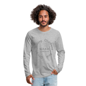 W.O.R.D. Men's Premium Long Sleeve T-Shirt - heather gray