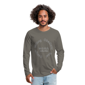 W.O.R.D. Men's Premium Long Sleeve T-Shirt - asphalt gray
