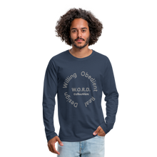 Load image into Gallery viewer, W.O.R.D. Men's Premium Long Sleeve T-Shirt - navy
