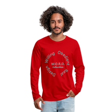 Load image into Gallery viewer, W.O.R.D. Men's Premium Long Sleeve T-Shirt - red