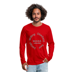 W.O.R.D. Men's Premium Long Sleeve T-Shirt - red