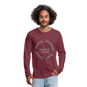 W.O.R.D. Men's Premium Long Sleeve T-Shirt - heather burgundy