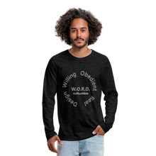 Load image into Gallery viewer, W.O.R.D. Men's Premium Long Sleeve T-Shirt - charcoal gray