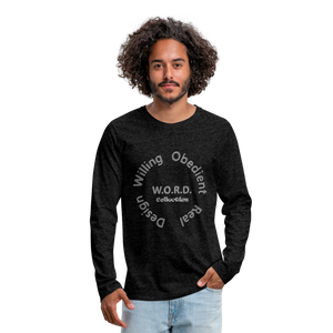 W.O.R.D. Men's Premium Long Sleeve T-Shirt - charcoal gray