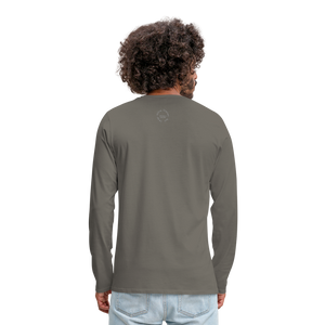 Kingston Men's Premium Long Sleeve T-Shirt - asphalt gray