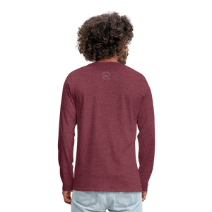 Kingston Men's Premium Long Sleeve T-Shirt - heather burgundy
