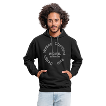 Load image into Gallery viewer, W.O.R.D. Unisex Contrast Hoodie - black/asphalt