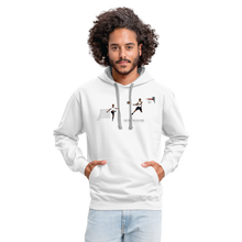 Load image into Gallery viewer, Amari Unisex Hoodie - white/gray
