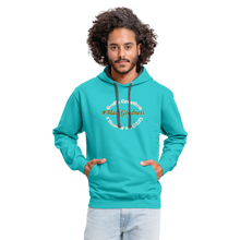 Load image into Gallery viewer, Black Goodness Unisex Hoodie - scuba blue/asphalt