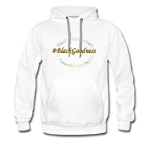 Load image into Gallery viewer, Black Goodness Men's Premium Hoodie - white