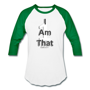 That One Unisex Baseball T-Shirt - white/kelly green