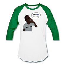 Load image into Gallery viewer, Kingston Unisex Baseball T-Shirt - white/kelly green