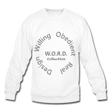 Load image into Gallery viewer, W.O.R.D. Unisex Crewneck Sweatshirt - white