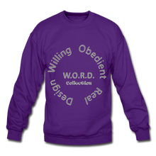 Load image into Gallery viewer, W.O.R.D. Unisex Crewneck Sweatshirt - purple