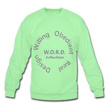 Load image into Gallery viewer, W.O.R.D. Unisex Crewneck Sweatshirt - lime