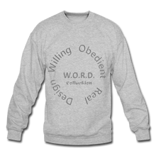 Load image into Gallery viewer, W.O.R.D. Unisex Crewneck Sweatshirt - heather gray