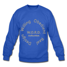 Load image into Gallery viewer, W.O.R.D. Unisex Crewneck Sweatshirt - royal blue