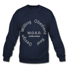 Load image into Gallery viewer, W.O.R.D. Unisex Crewneck Sweatshirt - navy