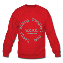 Load image into Gallery viewer, W.O.R.D. Unisex Crewneck Sweatshirt - red