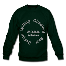 Load image into Gallery viewer, W.O.R.D. Unisex Crewneck Sweatshirt - forest green