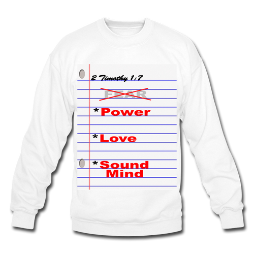 NO FEAR Unisex Crewneck Sweatshirt - white