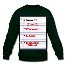 Load image into Gallery viewer, NO FEAR Unisex Crewneck Sweatshirt - forest green