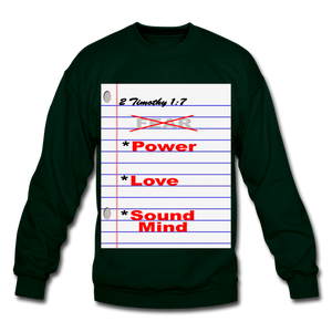 NO FEAR Unisex Crewneck Sweatshirt - forest green
