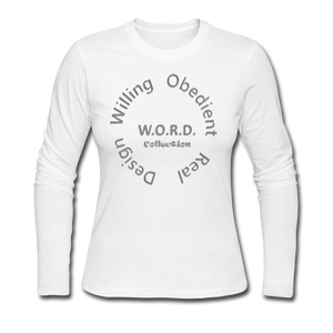 W.O.R.D. Long Sleeve Jersey T-Shirt - white