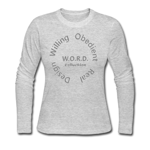 W.O.R.D. Long Sleeve Jersey T-Shirt - gray